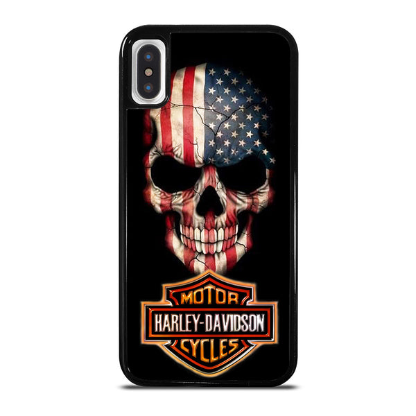 HARLEY DAVIDSON SKULL FLAG iPhone X / XS Case