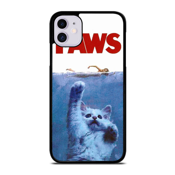 JAWS FUNNY CAT PAWS iPhone 11 Case