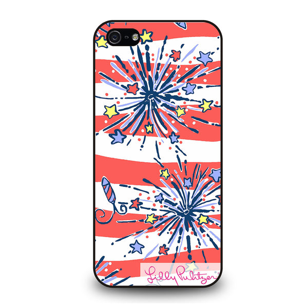LILLY PULITZER JULY 4th #1 iPhone 5/5S/SE Case