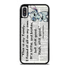 LILO AND STITCH QUOTES DISNEY iPhone X / XS Case