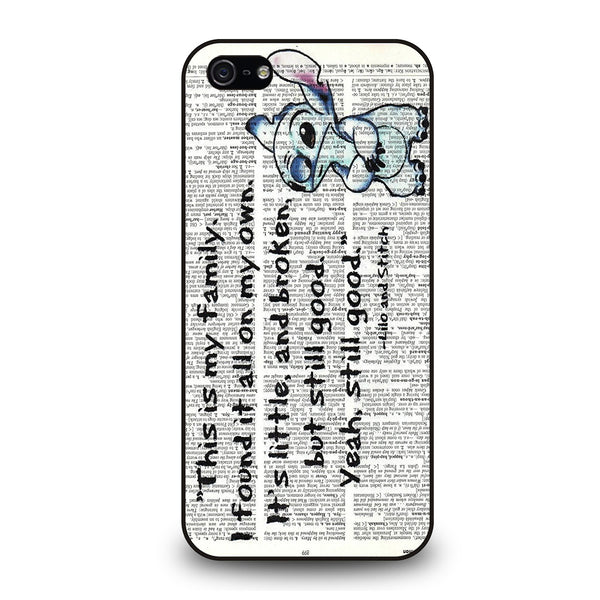 LILO AND STITCH QUOTES DISNEY iPhone 5/5S/SE Case