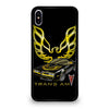 PONTIAC TRANS AM FIREBIRD #9 iPhone XS Max Case