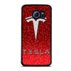 RED TESLA EMBLEM LOGO WATER Samsung Galaxy S6 Edge Case