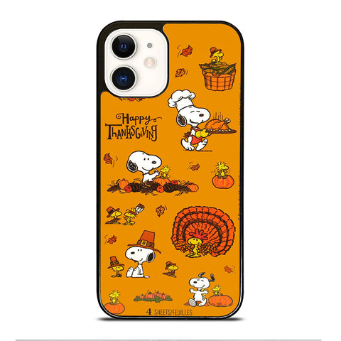 SNOOPY THANKSGIVING iPhone 12 Case