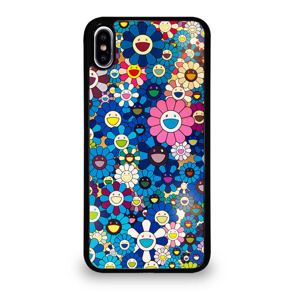 TAKASHI MURAKAMI FLOWERS BLUE iPhone XS Max Case