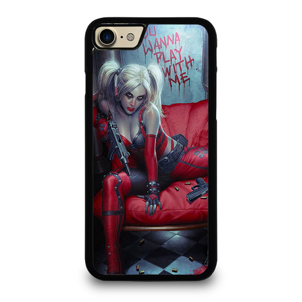 YOU WANNA PLAY WITH HARLEY QUINN iPhone 7 / 8 Case