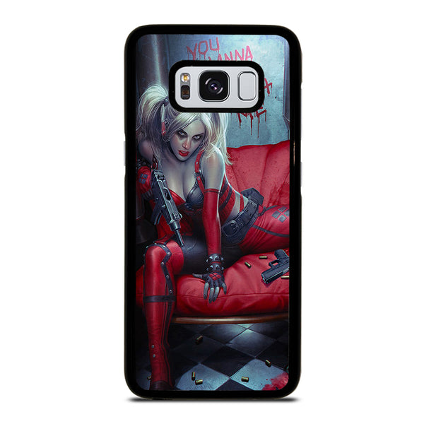 YOU WANNA PLAY WITH HARLEY QUINN Samsung Galaxy S8 Case