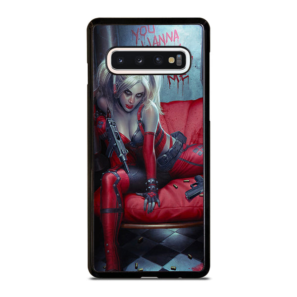 YOU WANNA PLAY WITH HARLEY QUINN Samsung Galaxy S10 Case