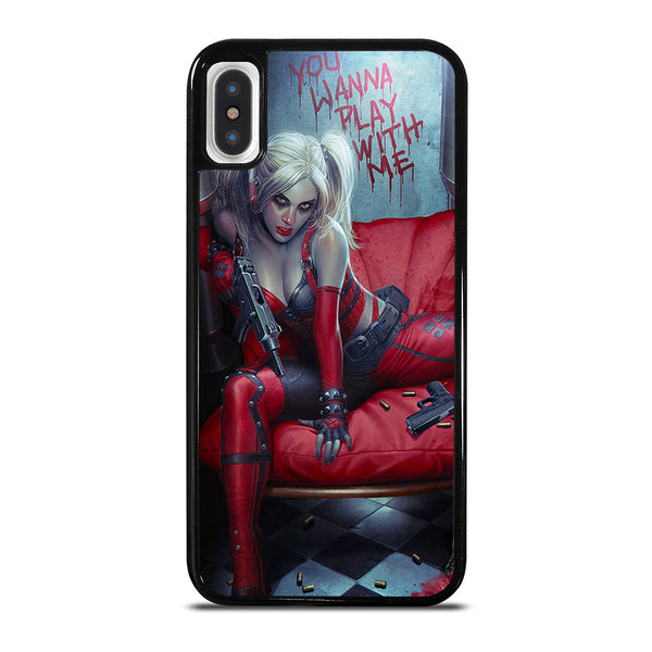 YOU WANNA PLAY WITH HARLEY QUINN iPhone X / XS Case