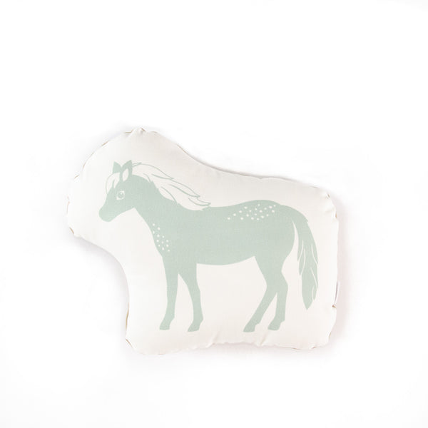 Pony cushion - green