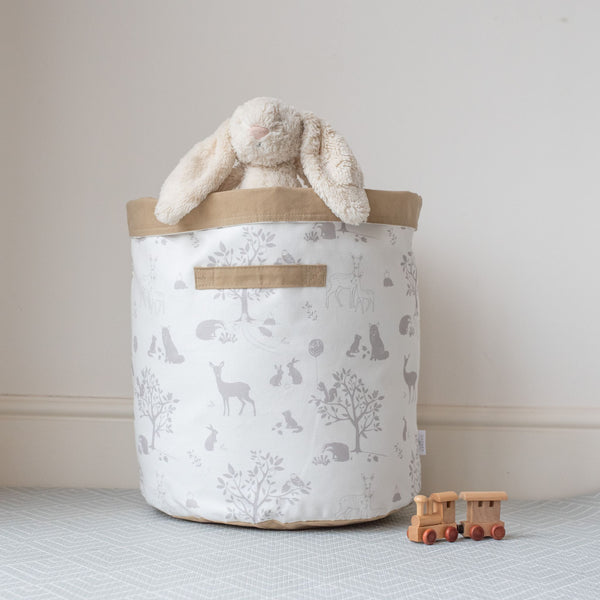 Large Woodland Storage Basket 'Silver Birch Wood'