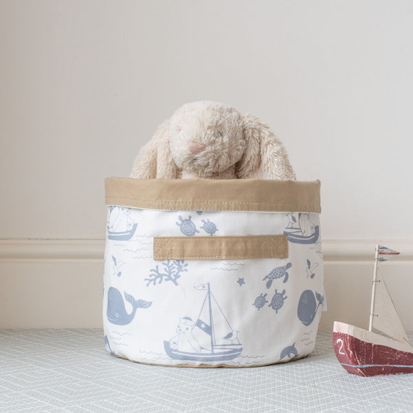 Medium Coastal Storage Basket 'Cornish Sea'
