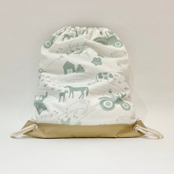 Kids Drawstring Bag - Farm
