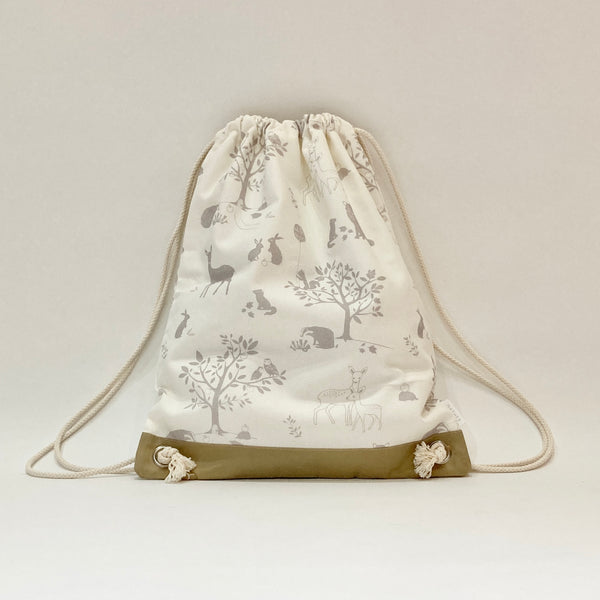 Kids Drawstring Bag - Woodland