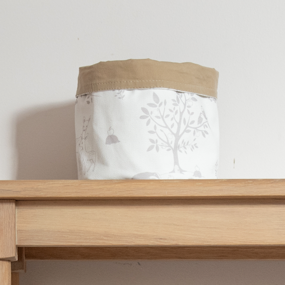 Small Woodland Storage Basket 'Silver Birch Wood'