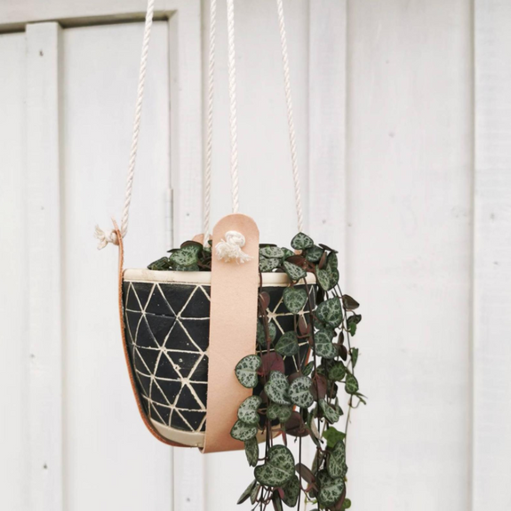 Natural Leather Plant Hanger