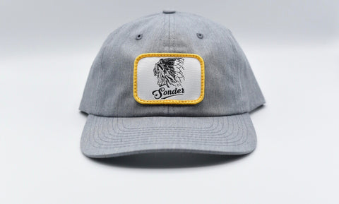 Vintage Indian Patch Hat - Heather Grey