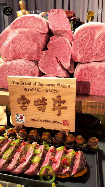 Miyazaki Wagyu At The 2018 Governor's Ball, Academy Awards After-Party