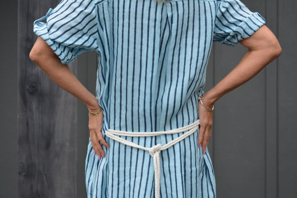 Tilda Linen Stripe Shirt Dress