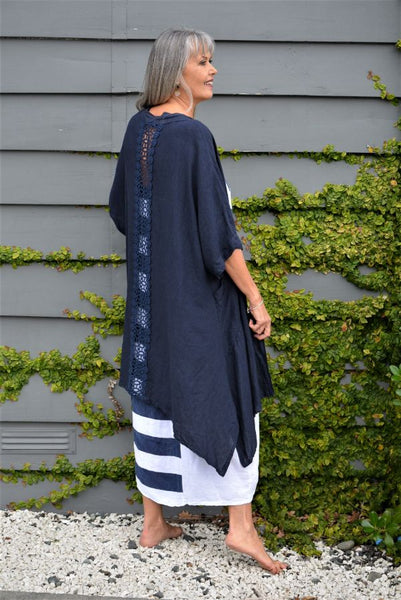 Bardot Linen Long Shirt Dress