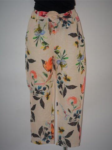 Jazzy Floral Linen Pants - NEW
