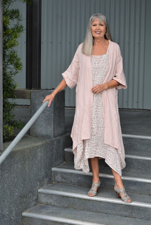 Winslet Linen Animal Print Maxi Dress