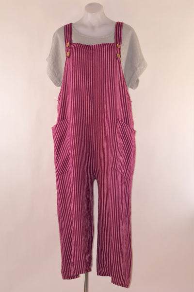 Dungarees Pin Stripe Linen -NEW 13 colours