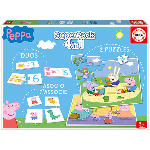 Super pack 4 en 1 Peppa Pig