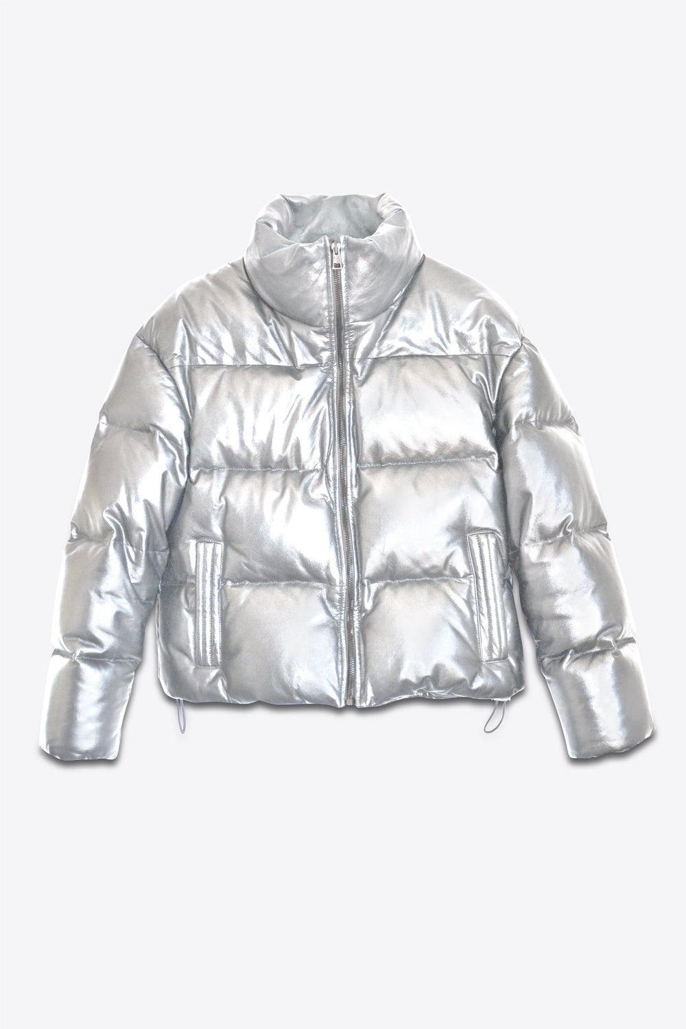 Leather Puffer White