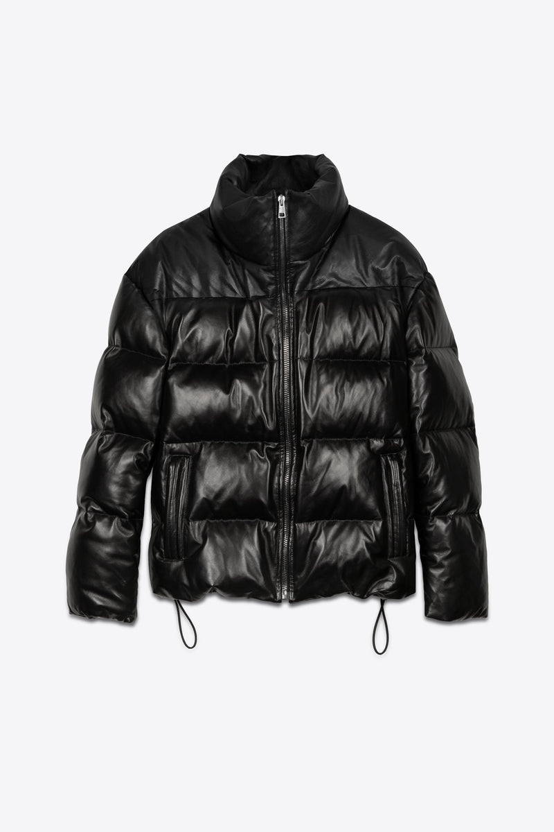 Leather Puffer Black Man