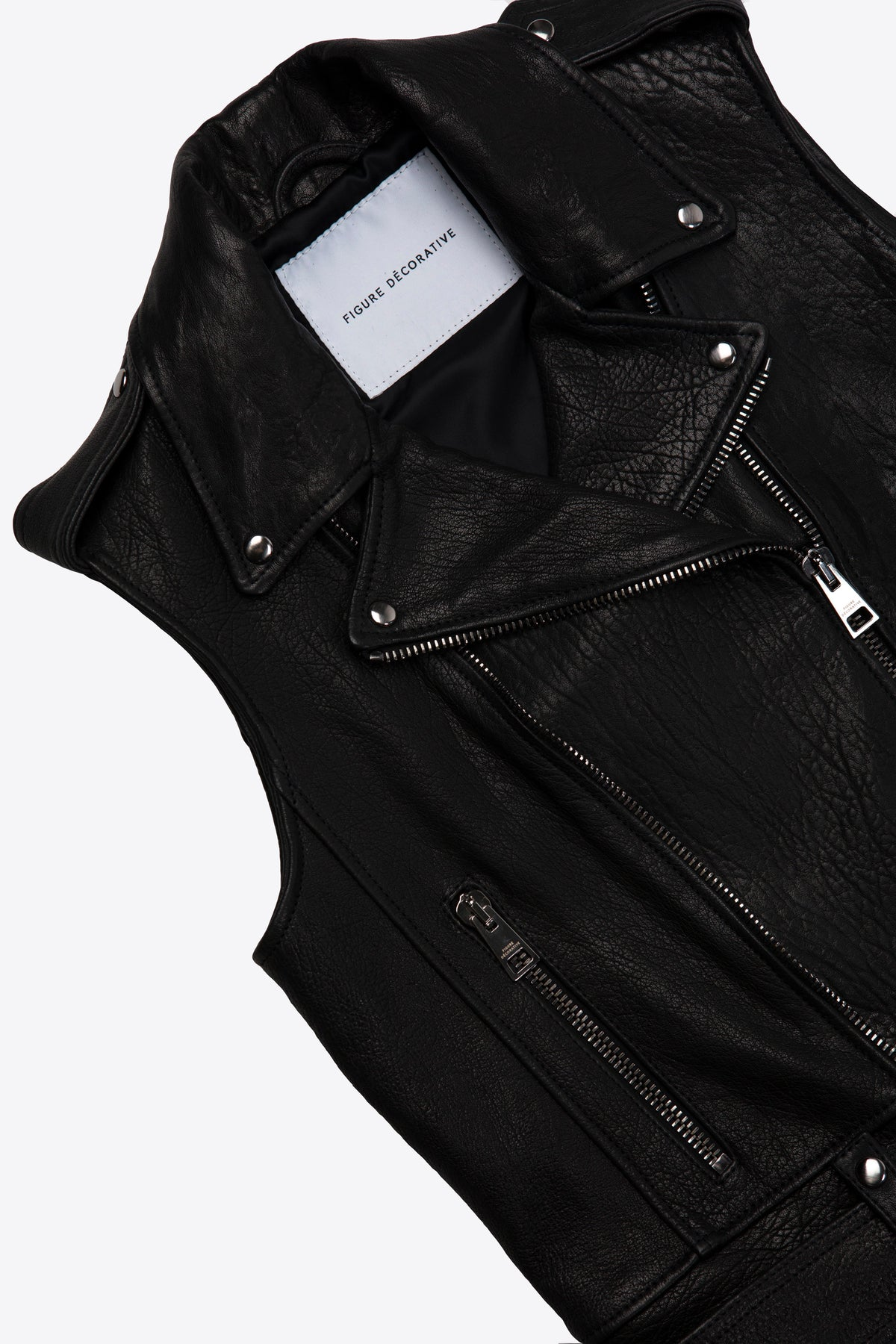 Leather Vest Black Woman