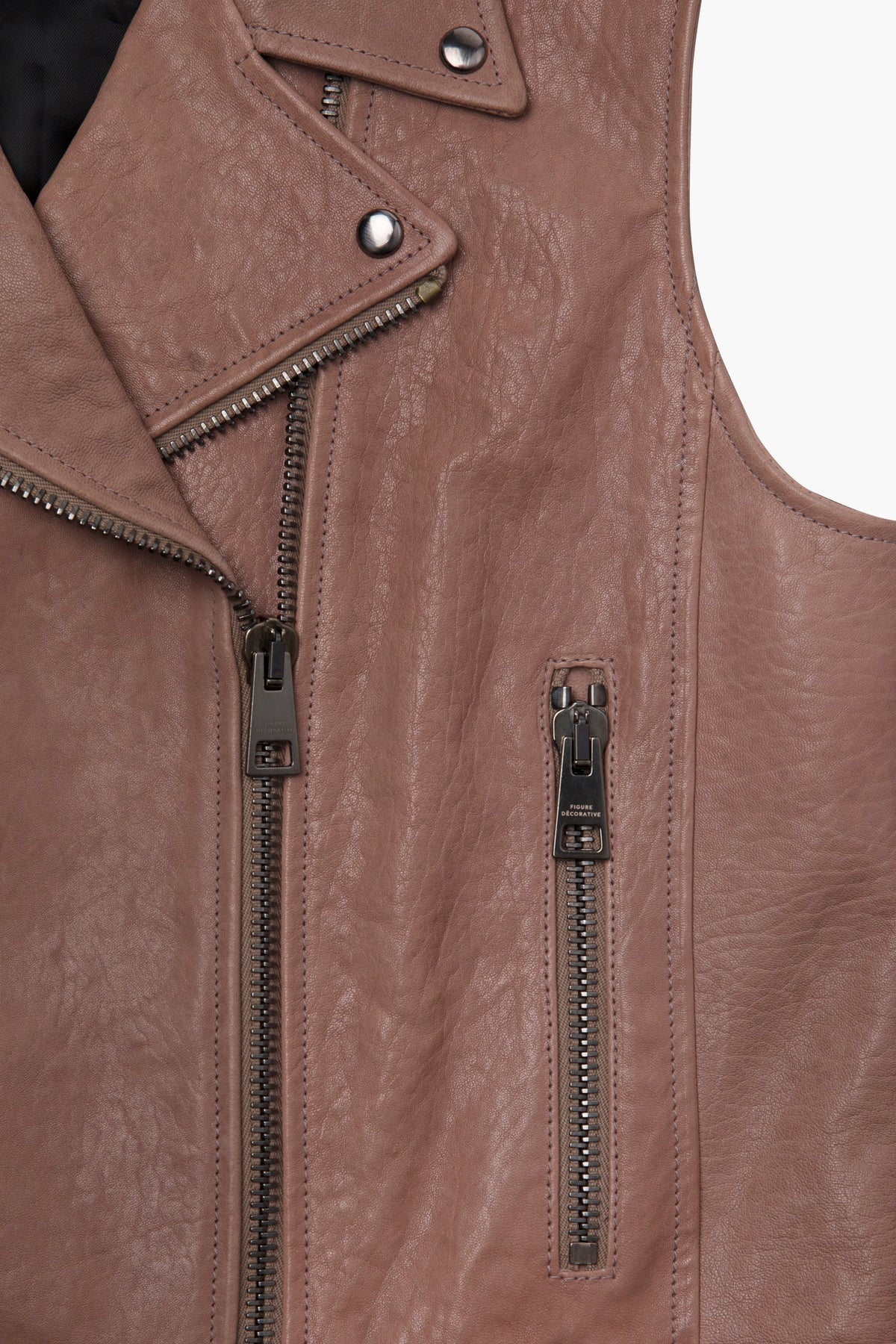 Leather Vest Pink Woman