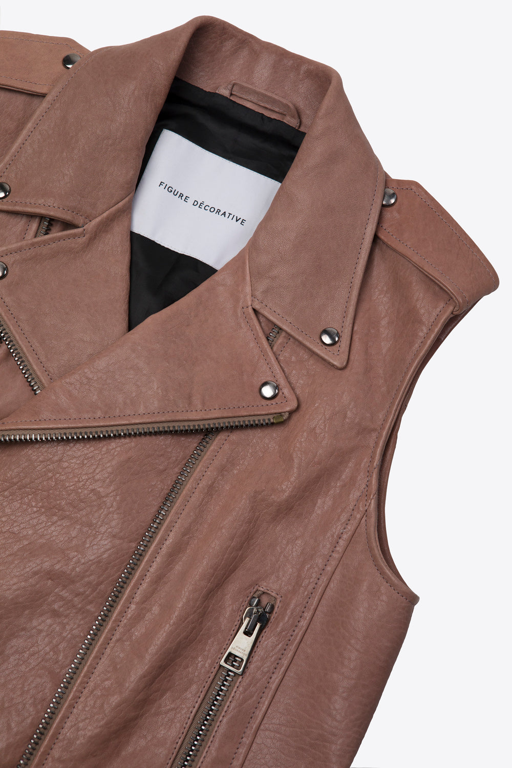 Leather Vest Pink Man