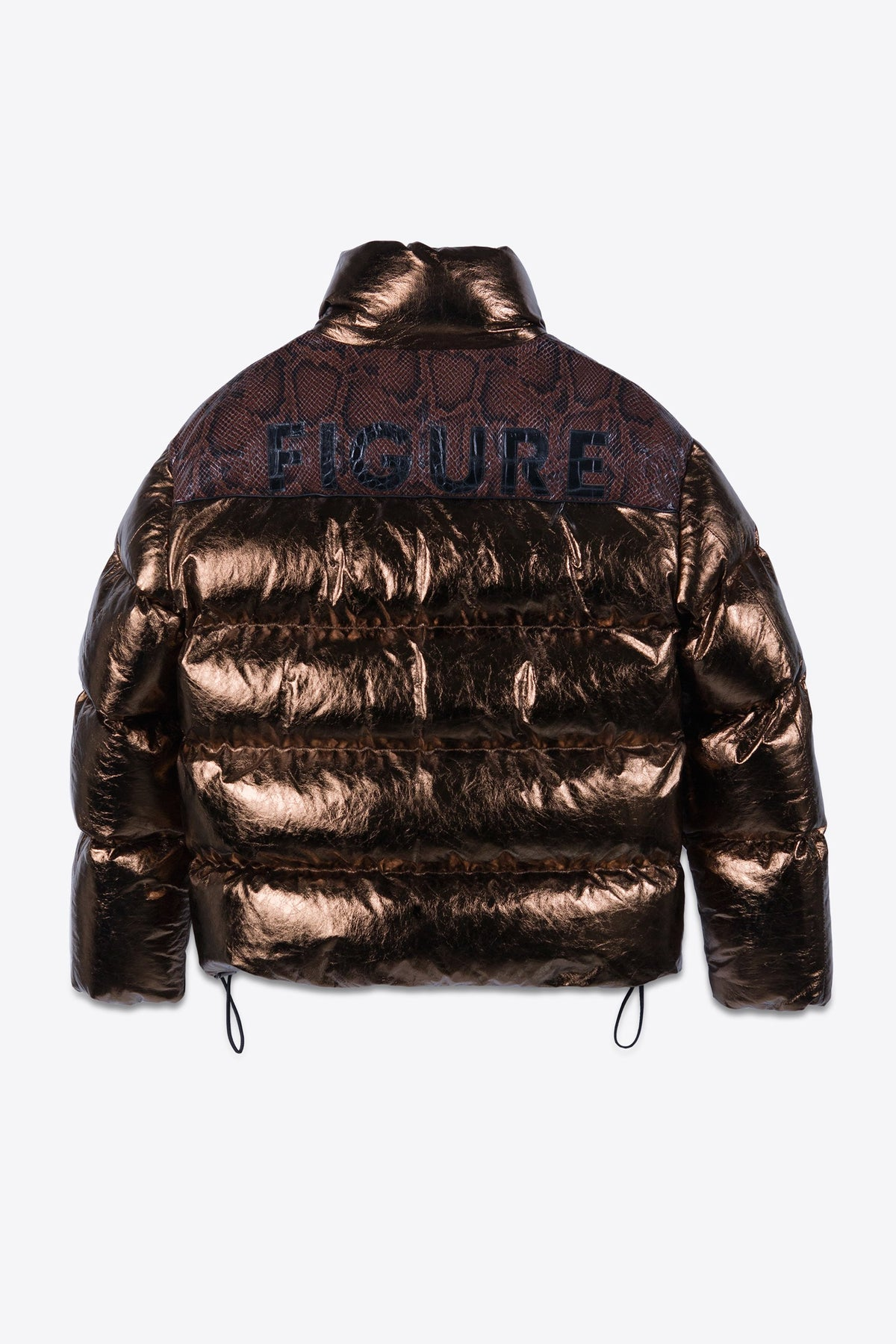 Leather Puffer Bronze and Python Man