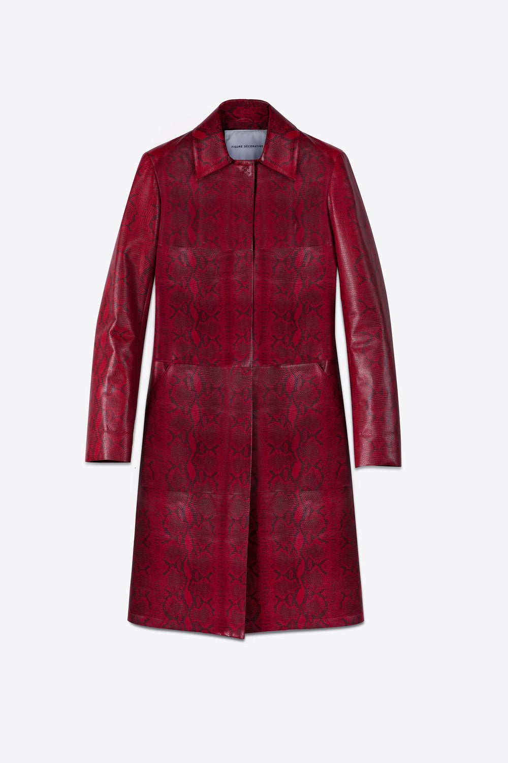Red Pyhton Coat Man