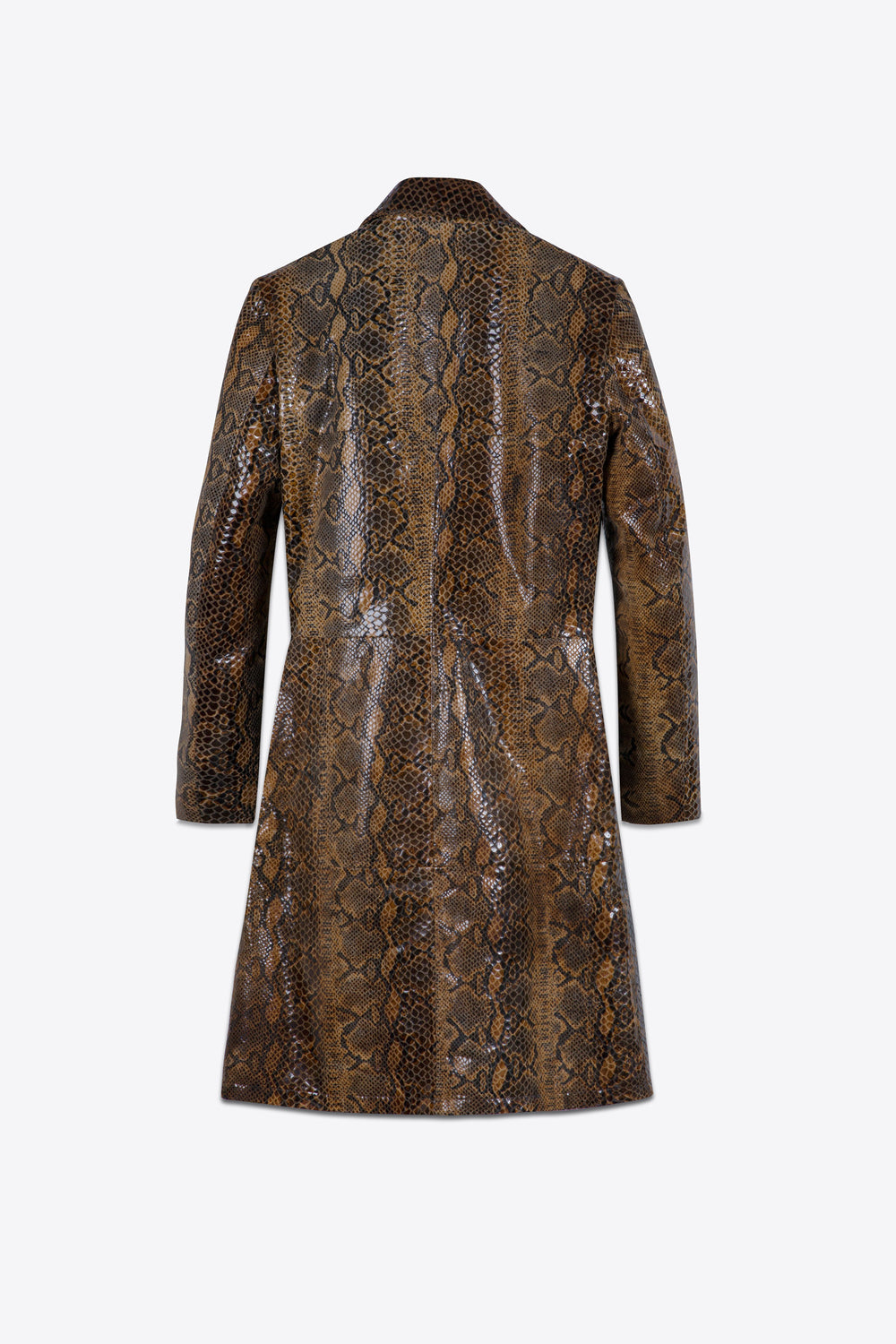Brown Pyhton Coat