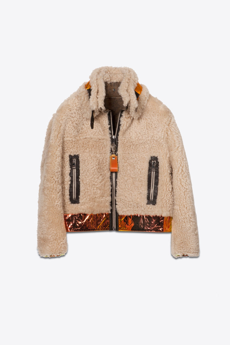Shearling reversibile