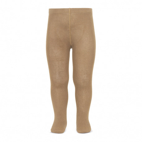 Plain basic tights - camel