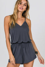 Load image into Gallery viewer, Cross Back Romper (Gray)