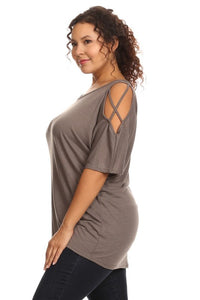 Curvy Cold Shoulder Top