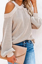 Load image into Gallery viewer, Shoulder Cutout Sweater