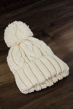 Load image into Gallery viewer, Pom Beanie (Ivory)