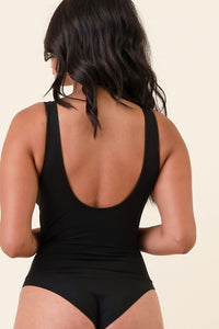 Scoop Neck Bodysuit (Black)