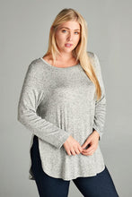Load image into Gallery viewer, Curvy Side Slit Sweater
