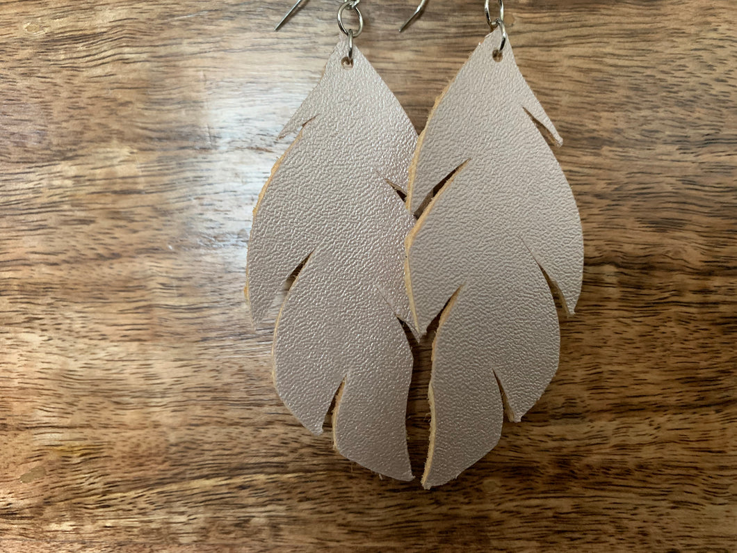 Feather Earring (Rose Gold)