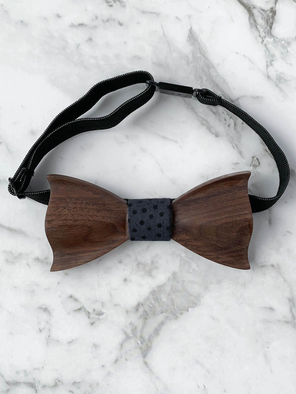 Kids Wooden Bow Tie & Matching Suspenders Set | Boys Wedding Accessories
