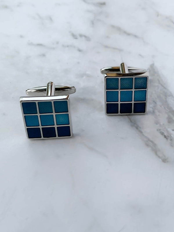 Blue Mosaic Cufflinks
