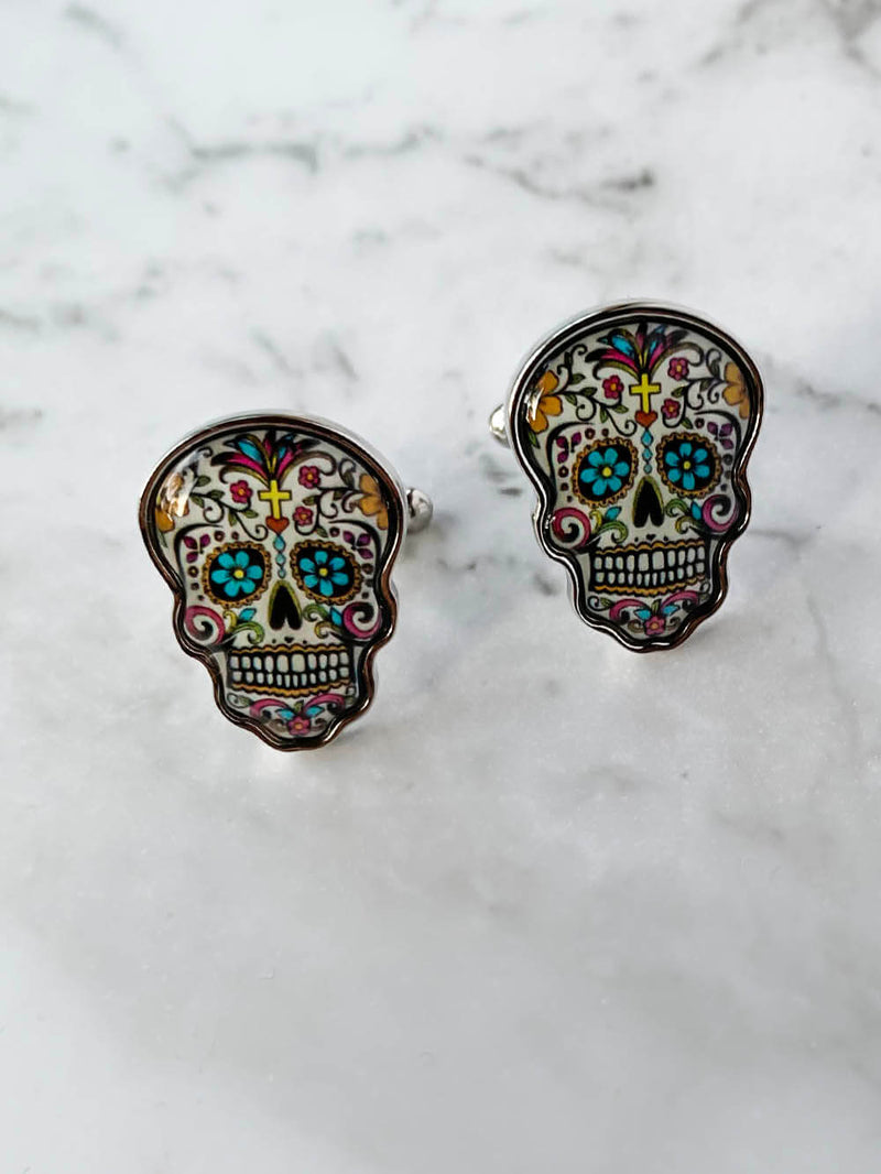 Day Of The Dead Skull Cufflinks | Gifts For Him