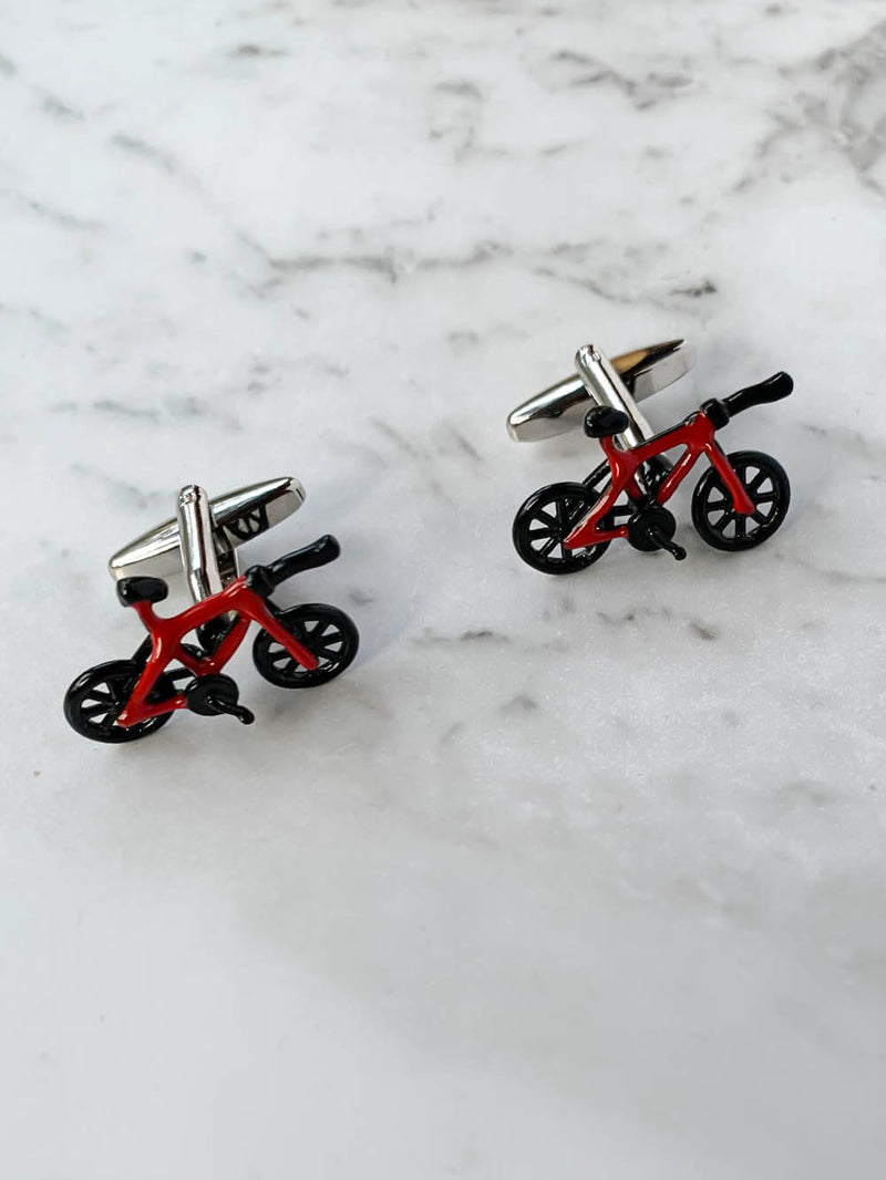 Red Bicycle Cufflinks Australia | Gifts For Him