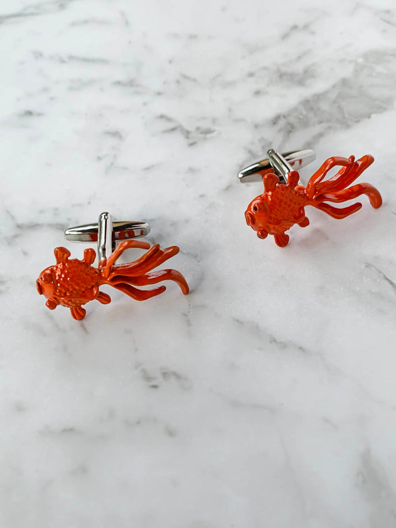 Goldfish Cufflinks | Gifts For Men